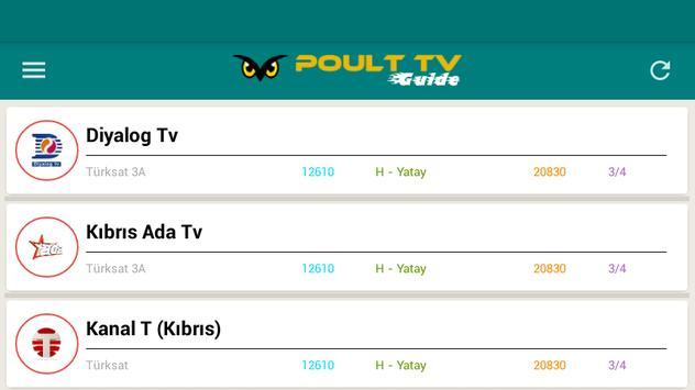 Poult TV Guide captura de pantalla 9