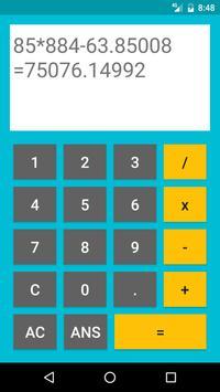 Free Calculator CalCu. apk screenshot