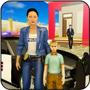 Virtual Working Police Mom Home: Happy Family Life APK