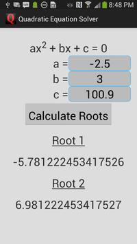 Quadratic Equation Solver poster