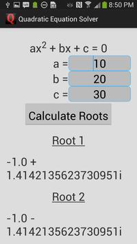 Quadratic Equation Solver apk screenshot
