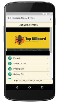Ed Sheeran Music Lyrics apk screenshot
