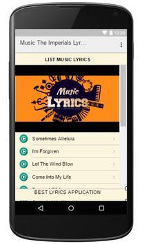 Music The Imperials Lyrics apk screenshot