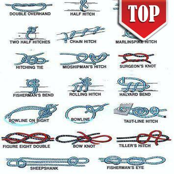 Technique Tying Rope - Knots poster