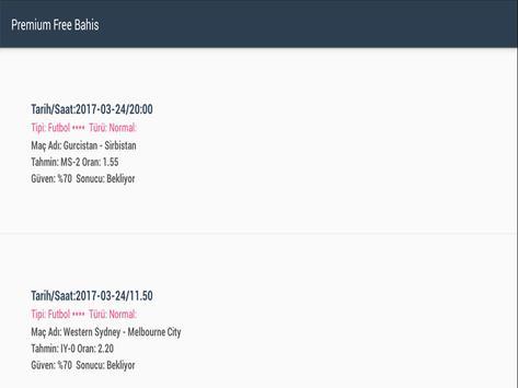 Premium Free Bahis apk screenshot