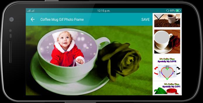 Coffee Mug Gif Photo Frame poster