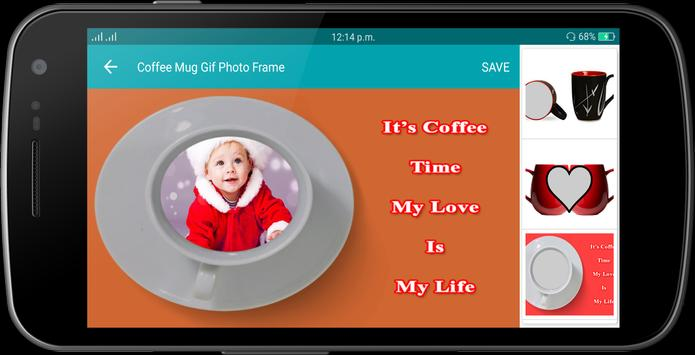 Coffee Mug Gif Photo Frame screenshot 6