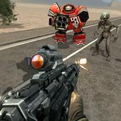 Robot Shooting Real icon