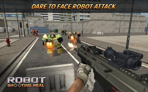 Robot Shooting Real poster