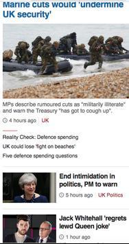 News BBC British poster