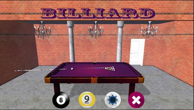 Billiards Game 3D poster