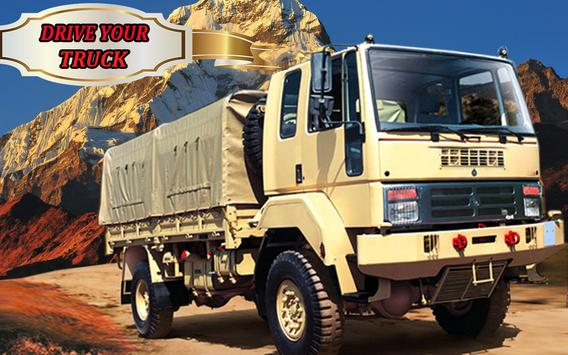 Army cargo truck 4x4 2017 apk screenshot