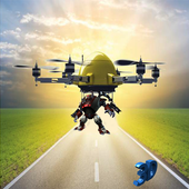 Fantastic Drone Robot Delivery icon
