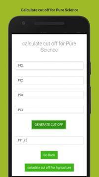 Cut Off Calculator apk screenshot