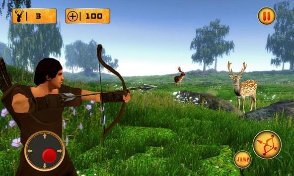 Archery Shooting Deer Hunting poster