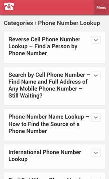 phone number lookup apk screenshot