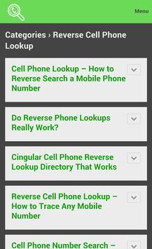 ... Reverse Cell Phone Lookup apk screenshot ...