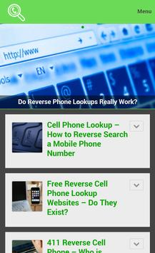 Reverse Cell Phone Lookup poster Reverse Cell Phone Lookup apk screenshot  ...