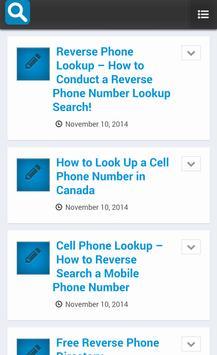 Reverse Phone Lookup poster Reverse Phone Lookup apk screenshot ...
