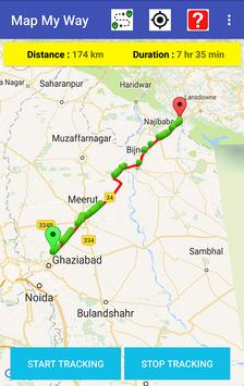Map My Way APK Download Free Maps Navigation APP For Android - Mapquest distance