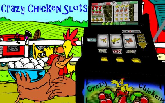 ★ Crazy Chicken Slots! FREE poster