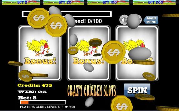 ★ Crazy Chicken Slots! FREE apk screenshot