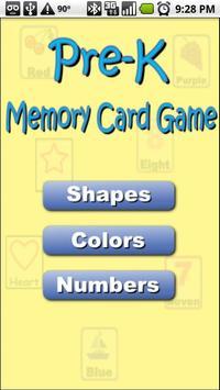 Pre-K Memory Game (free) poster