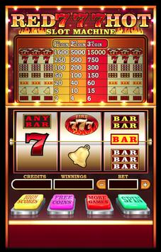 Red Hot 777 Slots: FREE poster