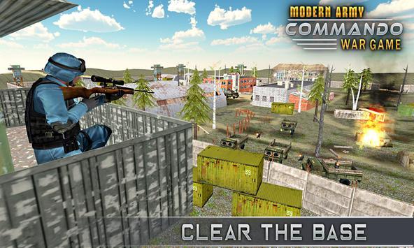 Modern Elite Army Commando War poster