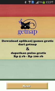 getnap :PULSA GRATIS 5rb-100rb screenshot 1