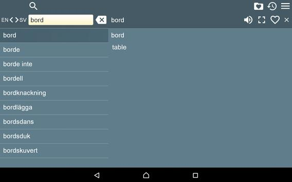 English Swedish Dictionary Fr apk screenshot