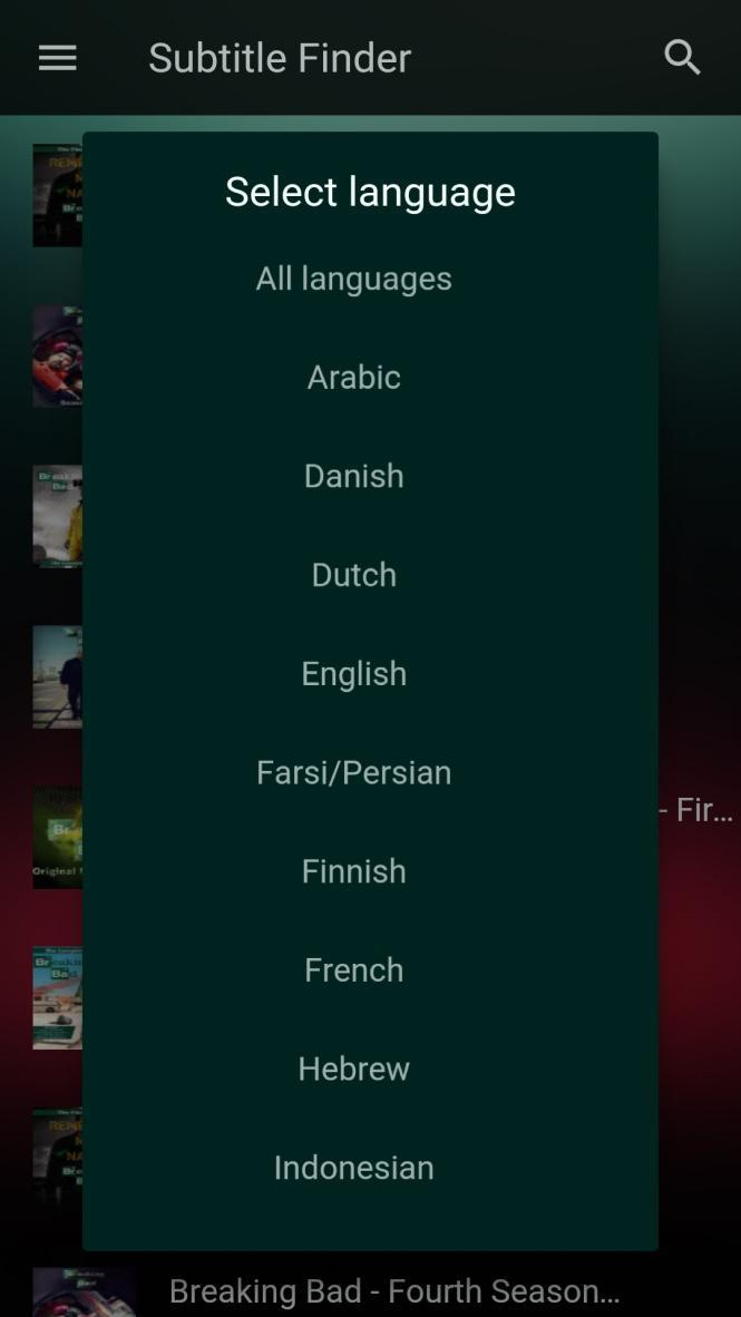 Subtitle Finder for Android - APK Download
