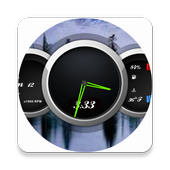 Zooper Black Car Dash icon