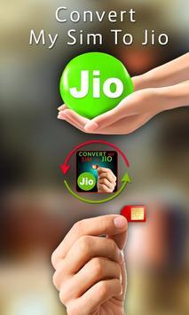 Convert my SIM to JIO Prank poster