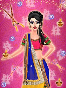 Navratri Fashion Salon - Makeover and Dressup Game poster