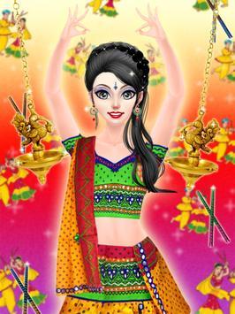 Navratri Fashion Salon - Makeover and Dressup Game screenshot 5