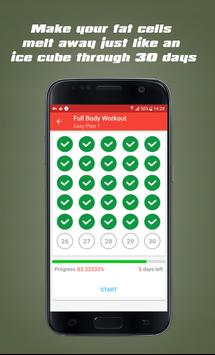 30 Day Fitness Challenge Workout - Gym Training apk screenshot