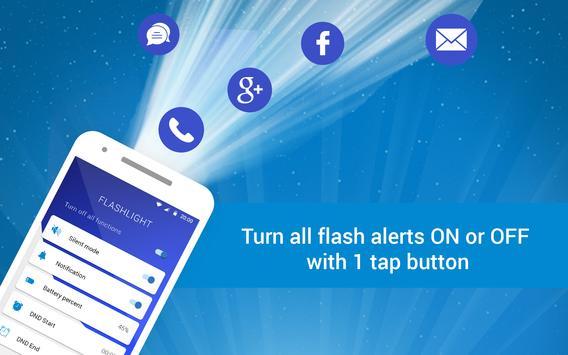 Flashlight alert - Flash notification screenshot 3