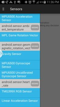 Sensors for android poster