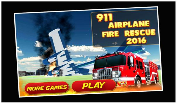 911 Airport Plane Fire Fighter poster
