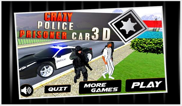 Crazy Police Prisoner Car 3D poster