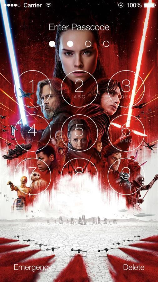 Star Wars The Last Jedi Wallpaper Lock Screen For Android