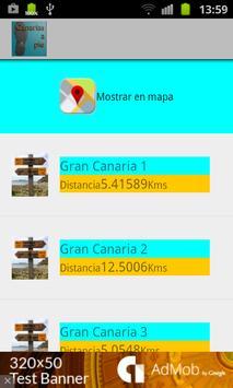 Canarias a pie poster