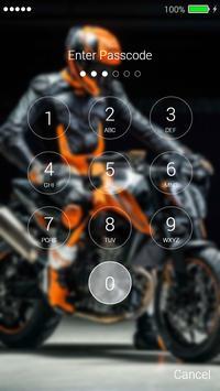 Sport Moto Lock Screen screenshot 3