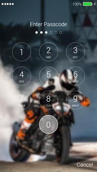 Sport Moto Lock Screen screenshot 1