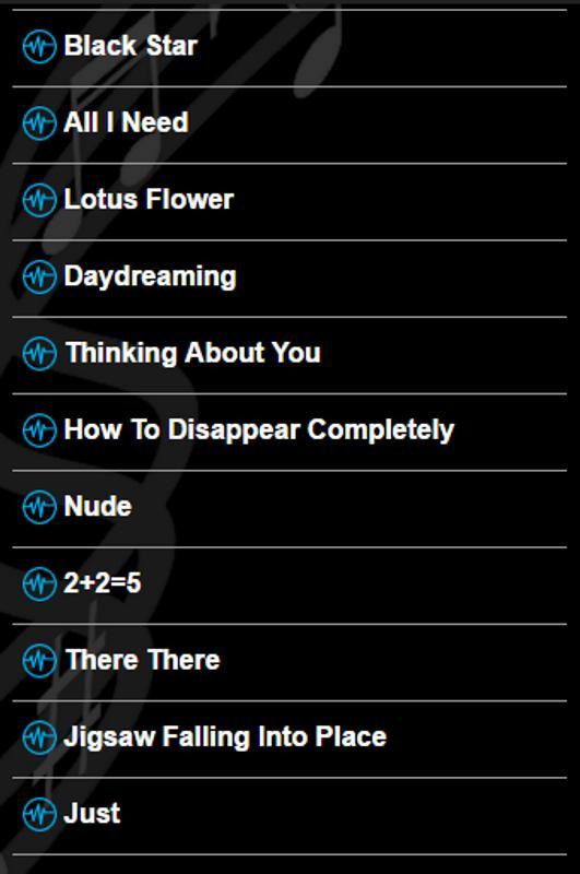 Radiohead Lyrics For Android Apk Download