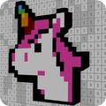 Voxel 3D Unicorn Color By Number-Sandbox Pixel Art
