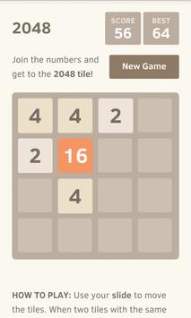 2048 puzzle game poster
