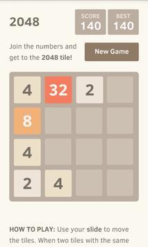 2048 puzzle game screenshot 2