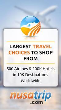 NusaTrip : Flight & Hotel - Travel Booking deals poster